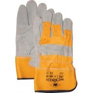 A-kwaliteit splitlederen handschoen, zware kwaliteit Maten 10