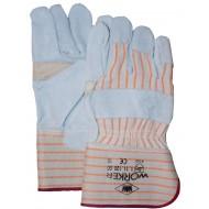 A-kwaliteit splitlederen handschoen palmversterking Maten 10