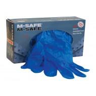 M-Safe vinyl onderzoekshandschoenen, blauw Maat 10