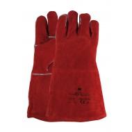Lashandschoen van rood splitleder Maten 10