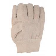Frotté handschoen met tricot boord Maten 10
