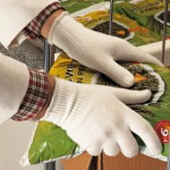Ansell proFood Insulated 78-110, volledig gebreide, lichte handschoen, wit Maat 7