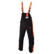 Amerikaanse zaagoverall 6090, zwart/oranje Maat 46