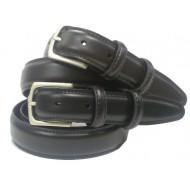 Uniformriem leder 0413-01, zwart Maat 90