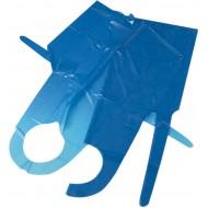 Afscheurschort van polyethyleen, 107x78 cm, à 100 st., blauw