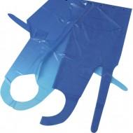 Afscheurschort van polyethyleen, 125x80 cm, à 1000 st., blauw