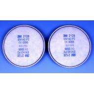 3M 2128 deeltjesfilter P2R, ozon, organische damp, zure gassen