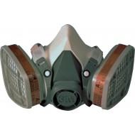 3M 6100 halfgelaatsmasker, maat S (lichtgrijs)