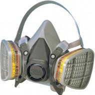 3M 6300 halfgelaatsmasker, maat L (donkergrijs)
