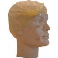 Baret polypropyleen model Wokkel geel   geel