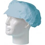Baret polypropyleen model haarnet met klep blauw   blauw