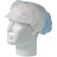 Baret polypropyleen model haarnet met klep wit   wit