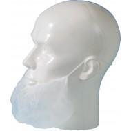 Baardmasker polypropyleen wit   wit
