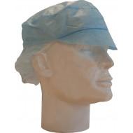 Pet met klep polypropyleen inclusief haarnet blauw   blauw