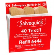 Salvequick Textielpleisters (6444), 40 pleisters (24 st. 72 x 19 mm en 16 st. 72 x 25 mm), à 6 navullingen