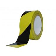 Afzetlint geblokt, zwart/geel